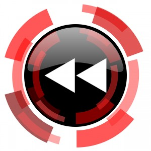 rewind red modern web icon