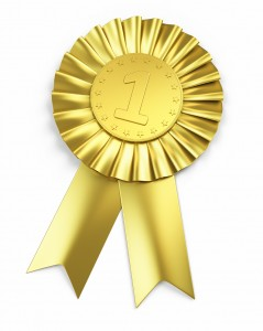 Number one , Golden Award Ribbon
