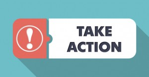 Take Action on Blue in Flat Design.