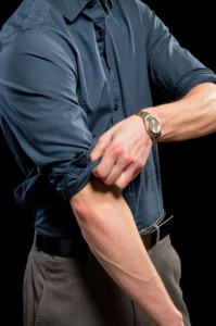Rolling up Sleeves
